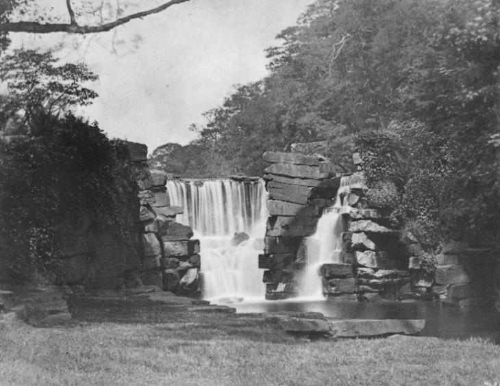 The Waterfall, Penllergare, c.1850. Photograph by John Dillwyn Llewelyn