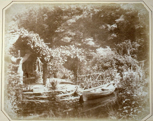 Rustic Boathouse on the Estate by John Dillwyn Llewelyn
